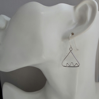 Contemporary Triangle Sterling Silver Sterling Silver Earrings