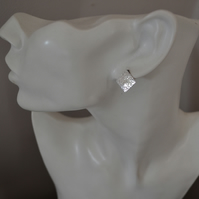 Sterling Silver Diamond Shaped Stud Earrings