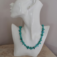 Hand Knotted Turquoise Necklace with Sterling Silver
