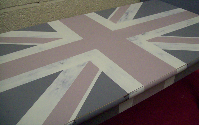 Hand Painted Union Jack Vintage Coffee Table Folksy