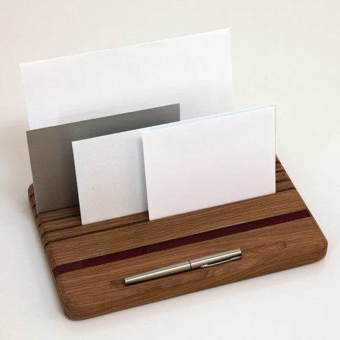 Desk Tidy Letter and Business Card Holder Folksy