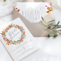 Colourful garden wedding invite suite - 6 piece - DIGITAL DOWNLOAD