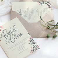 Grey & pink wedding invite suite - DIGITAL ITEM