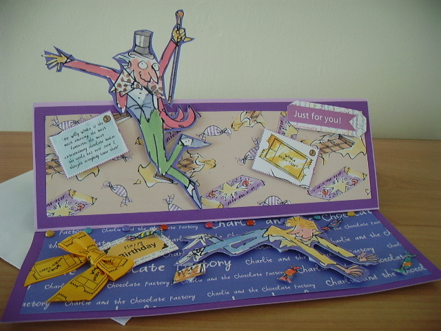 Birthday Card- Charlie and Wonka Golden Tickets