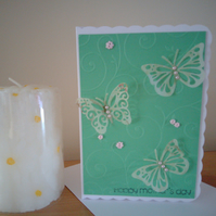 Happy mother's day..green with butterflys ..ref 460