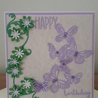 HAPPY BIRTHDAY...PURPLE BUTTERFLIES....REF 4