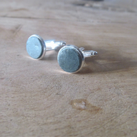 Beach pebble cuff links