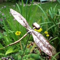 Copper Dragonfly Garden ornament
