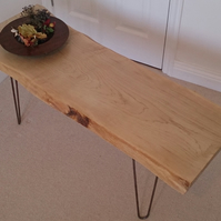 Coffee Table, Natural Edge with Hair Pin Legs