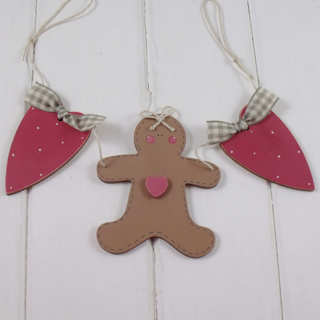 Cute Kitchen Gingerbread Bunting