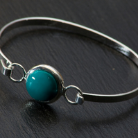 Green Bead Bangle