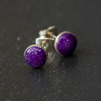 Sparkly Mauve Bead Earrings