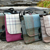 Cross Body Bag, Made to Order bag, Wool Tweed Messenger Bag, custom order bag