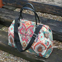 Carpet Bag, Weekend Bag, Mary Poppins Bag, Overnight bag, Hand Luggage,