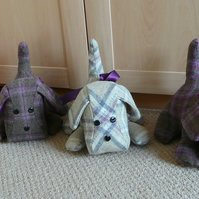 Doorstop, Dog Doorstop, patchwork Doorstop, tweed doorstop,home decor,
