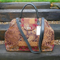 Carpet Bag Weekend Bag Mary Poppins Bag Patchwork Bag Overnight Bag