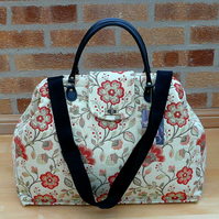 Carpet Bag Mary Poppins Bag Weekend Bag Overnight Bag Floral Bag