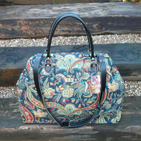 Tarvel bag hand luggage weekend bag Mary Poppins bag carpet bag paisley bag
