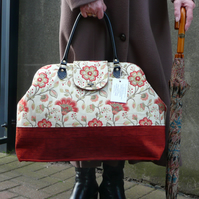 Carpet bag Floral Bag weekend bag Mary Poppins bag travel bag luggage