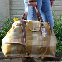 Weekend Bag Carpet Bag Tweed Bag Overnight Bag Mary Poppins Bag