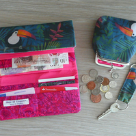 Toucan wallet gift set coin purse keyring and wallet set on sale