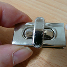 Bag lock, bag twist clasp, silver bag lock, slight second bag lock