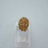 Golden yellow oval shape ring (301)