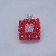 Red crystal square ring (62)