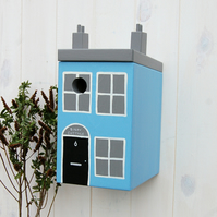 Seaside Cottage Blue Painted Bird Box