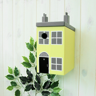 Seaside Cottage Lemon Painted Bird Box
