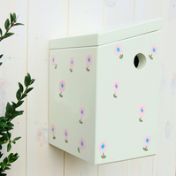 Country Garden White Painted Bird Box