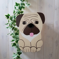 Pug Dog Bird Box