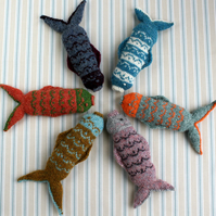 Fair Isle Fish PDF Knitting Pattern