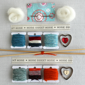 Home Sweet Home Knitting Kit - Key Rings