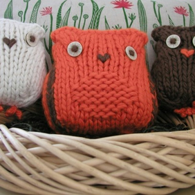 Wide Awake Sleepy Owls PDF Knitting Pattern