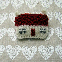 Red Roof Cottage Brooch Pin