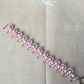 Tatted lace bracelet - pink