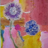 original multicoloured dandelion collage