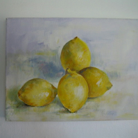 lemons - original acrylic on canvas