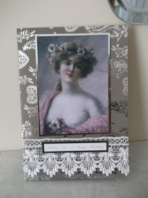 Luxury vintage Lady card 7