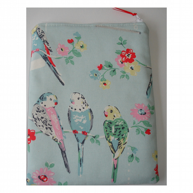 "Kindle Touch 6"" 6 Paperwhite Nook Kobo Case Cath Kidston Big Budgies Budgerigars"
