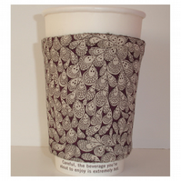 Coffee Cup Sleeve Cosy Cozy Gift for a Coffee or an Art Lover Grayson Perry
