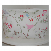 Toiletries Bag Birds Butterflies Flowers Large Cosmetic Purse Make-Up Bag