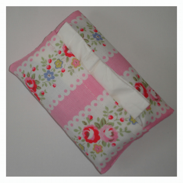 Pocket Tissue Holder Cath Kidston Lace Pink