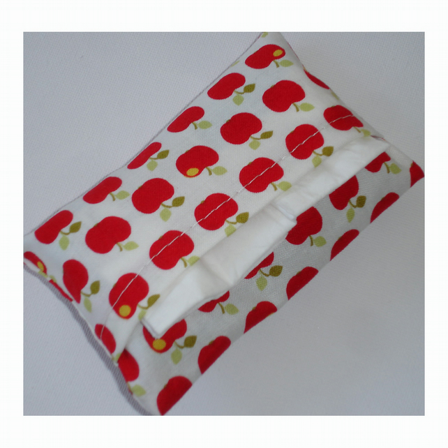 Pocket Handbag Tissue Holder Little Red Apples Apple For The Teacher