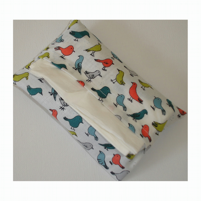 Handbag Pocket Tissue Holder Small Birds