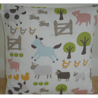 16 inch Cushion Cover John Lewis Farmyard