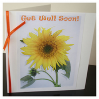 Get Well Soon Card Sunflower