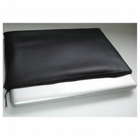 "Black 15"" Macbook Pro Case Sleeve Faux Leather Leatherette 15 inch"