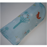 Blue Glasses Case Fox Rabbit Foxes Rabbits Spectacles Specs Sleeve